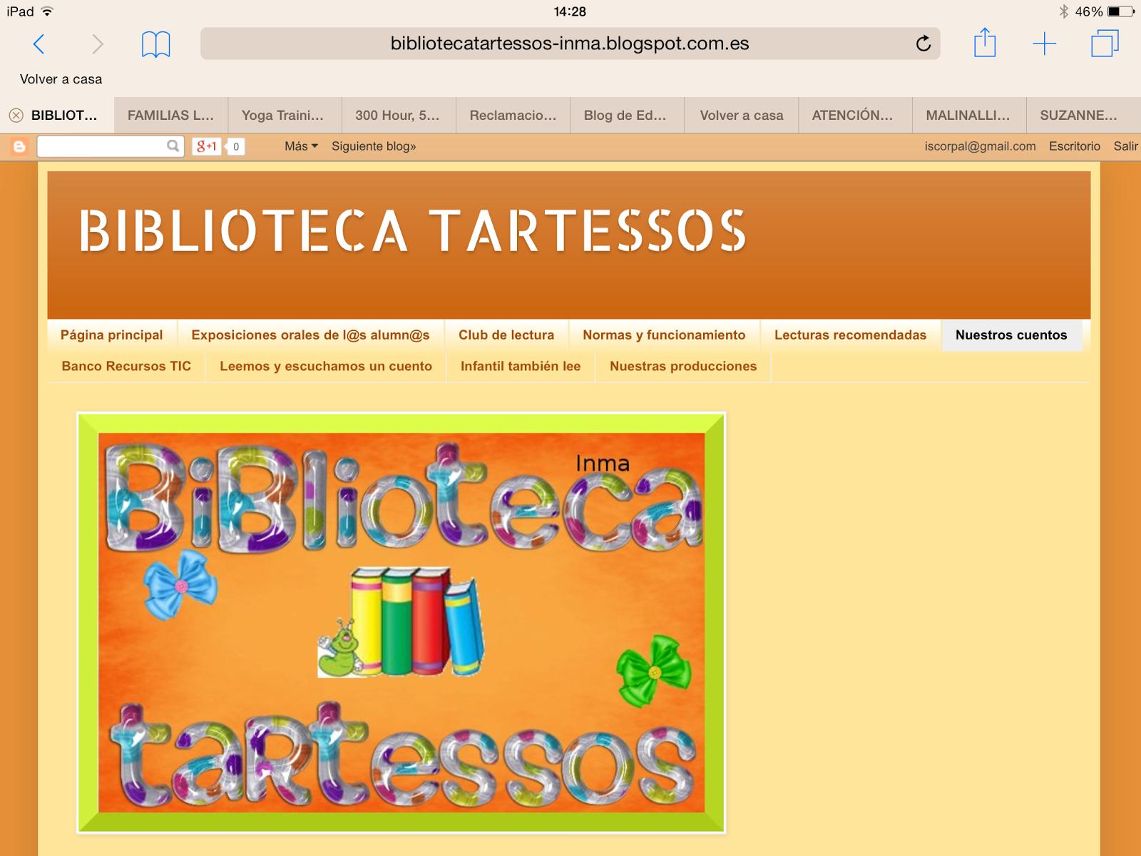 http://bibliotecatartessos-inma.blogspot.com.es/