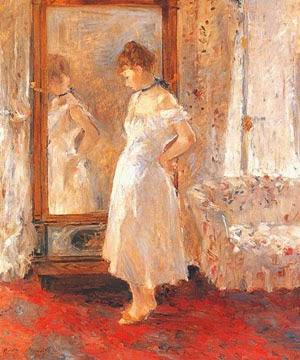 El espejo de vestir, Berthe Morisot