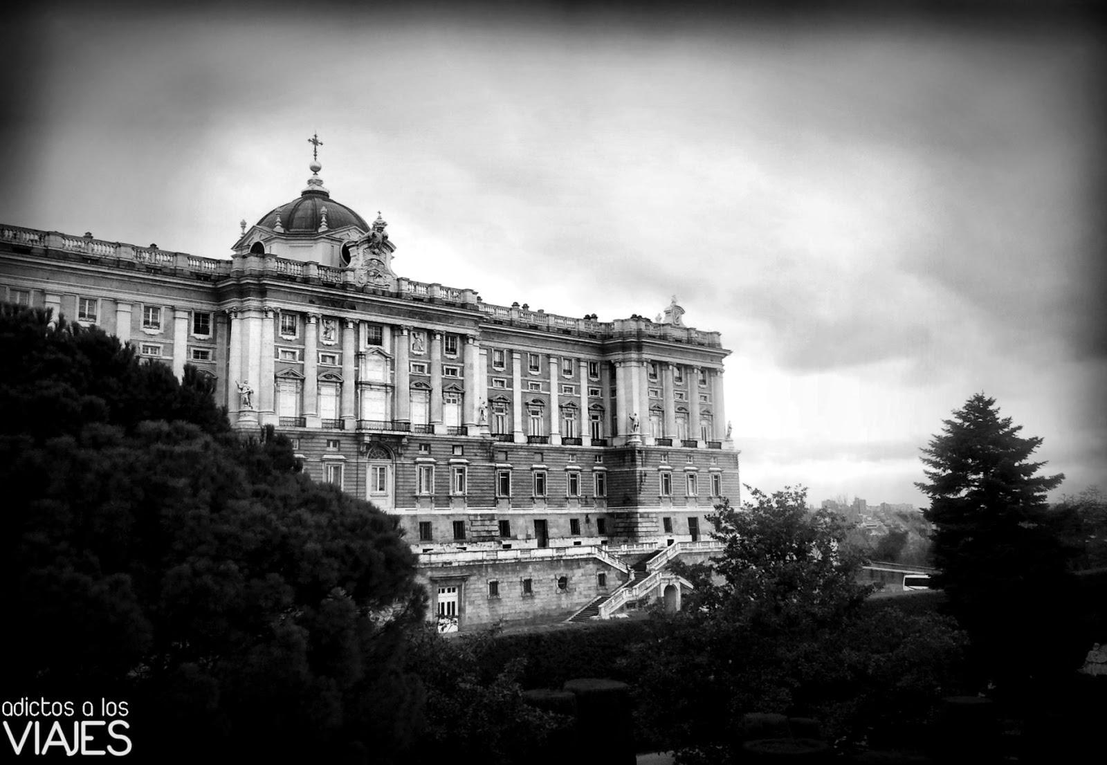 Madrid en blanco y negro adictos a los viajes blog de viajes - Jardines palacio real madrid ...
