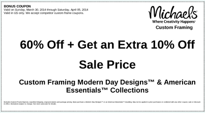 michaels coupons - Michaels Coupons For Framing