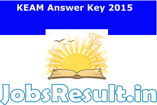 KEAM Answer Key 2015