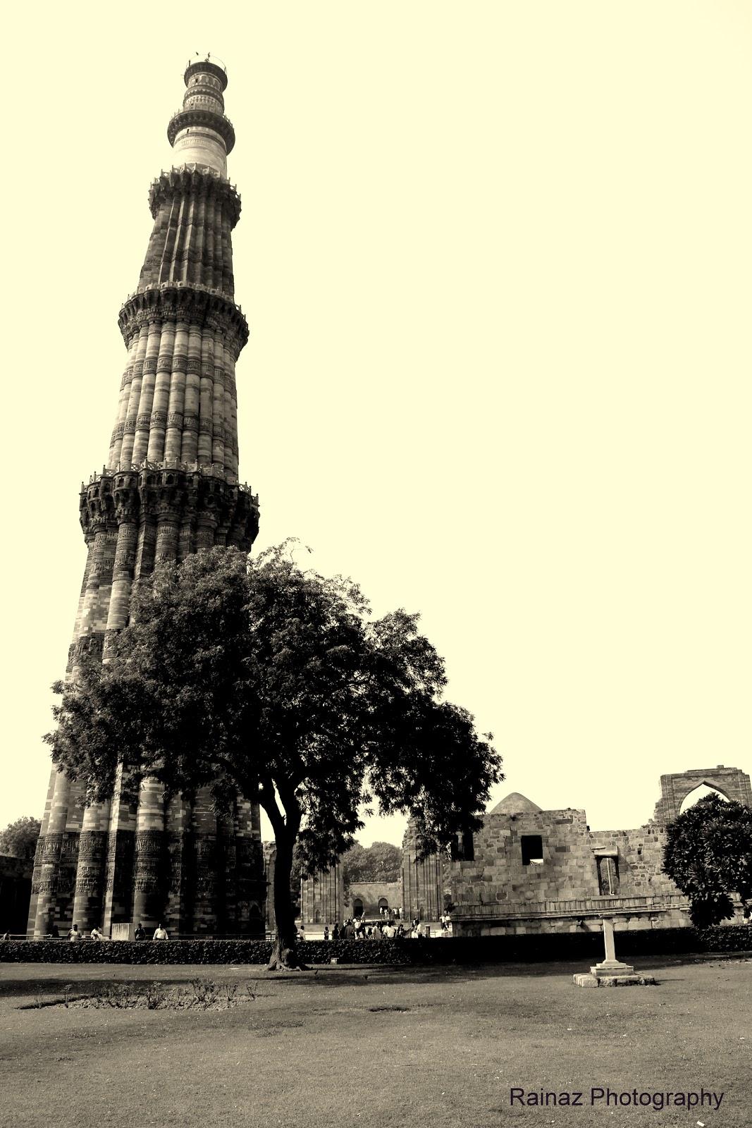 Qutub minar the archaeological map