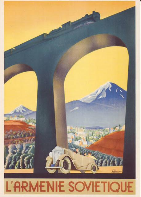 1935 Cartel de Turismo Vintage URSS, Armenia Soviética