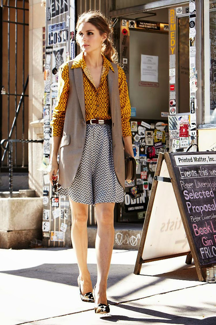 Olivia Palermo Street Style How To Mix Patterns Style Fashion Week