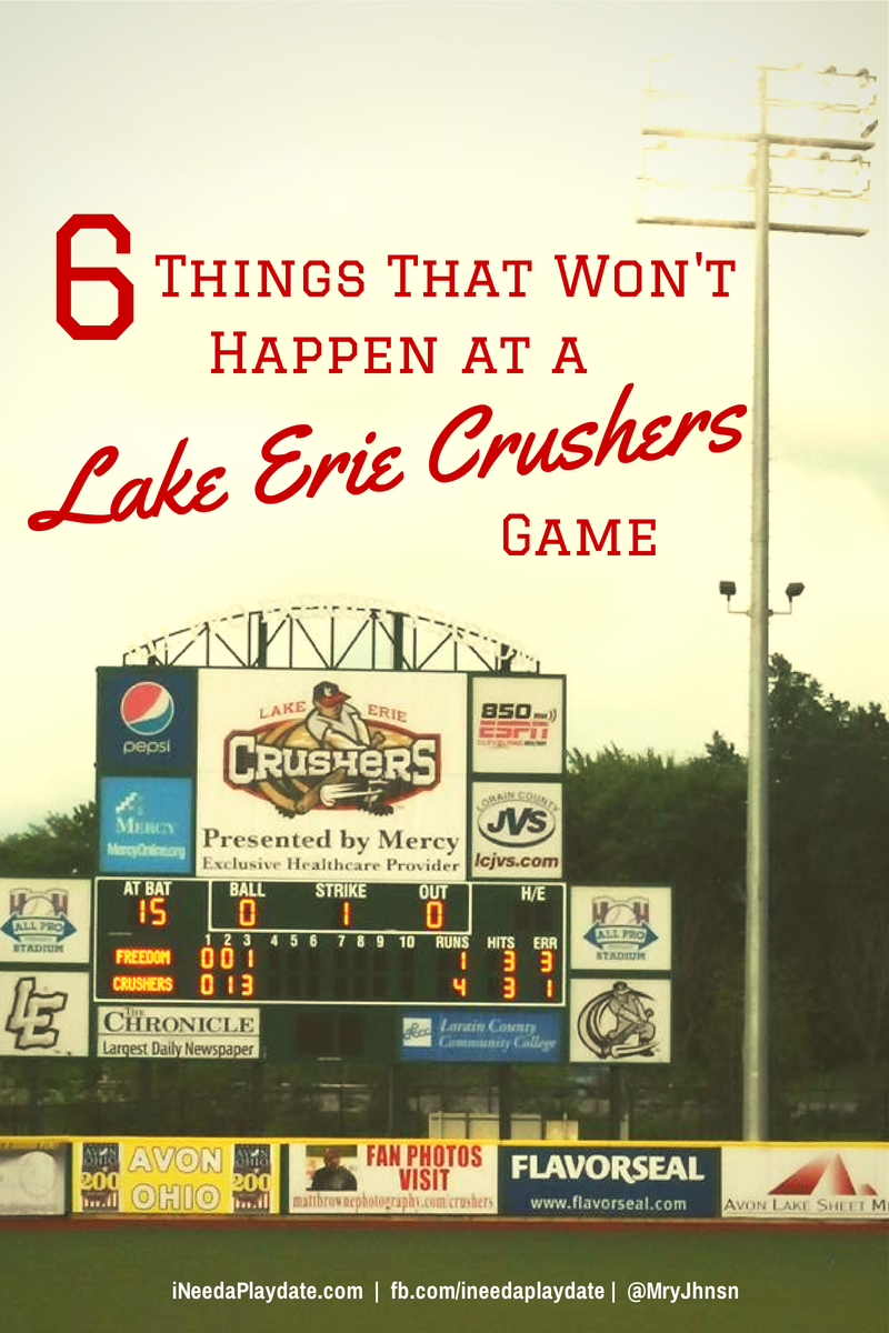 6 Things That Won't Happen at a Lake Erie Crushers' #Baseball Game #Ohio #Cleveland | @MryJhnsn iNeed a Playdate