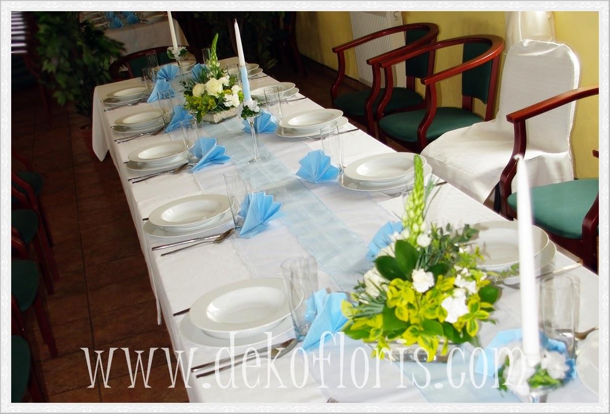 dekoracja komunijna stołu opolskie