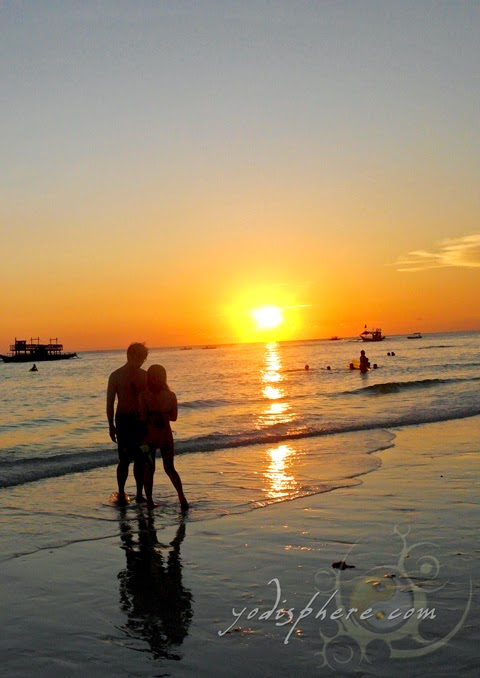 hover_share Romance against the golden Boracay sunset
