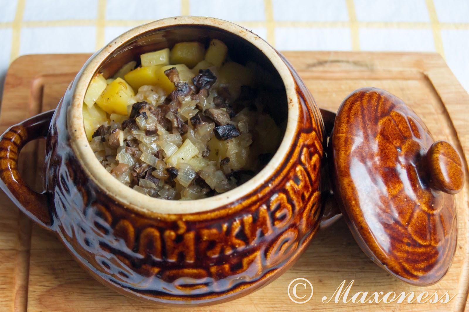 Говядина с картофелем в грибном соусе