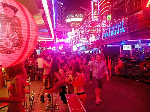 Nightlife girls at work in Bangkok