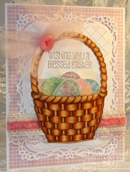 Our Daily Bread Designs, Blessed Easter, Basket of Blessings, Eggs dies, Shabby Rose Collection, designed by Robin Clendenning