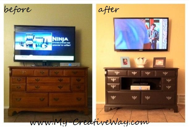 Perfect Repurposed Dresser into Entertainment Center 612 x 420 · 74 kB · jpeg
