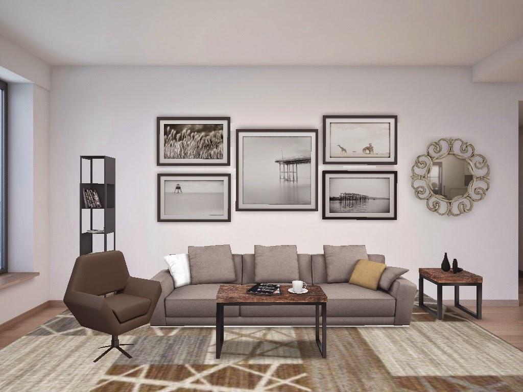 Sal n con colores neutros design 4 life - Colores relajantes para salones ...