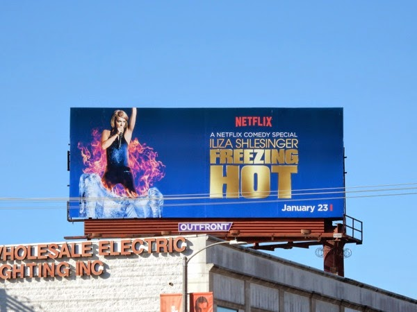 Iliza Schlesinger Freezing Hot Netflix billboard