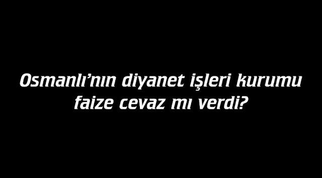 Mehmet Fahri Sertkaya, osmanlı devlet nizamı, fetvalar, Faiz, dar'ül harp, dar'ül islam, türkiye dar'ül harp mi, fıkıh,