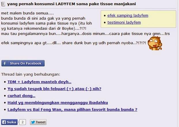 Testimoni ladyfem ibuhamil.com