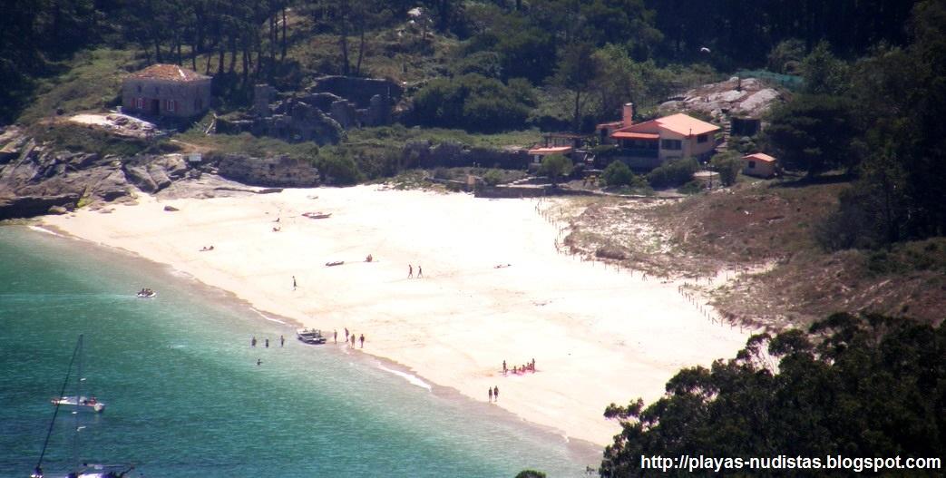 Playa de San Martiño (Islas Cíes, Galicia, España)