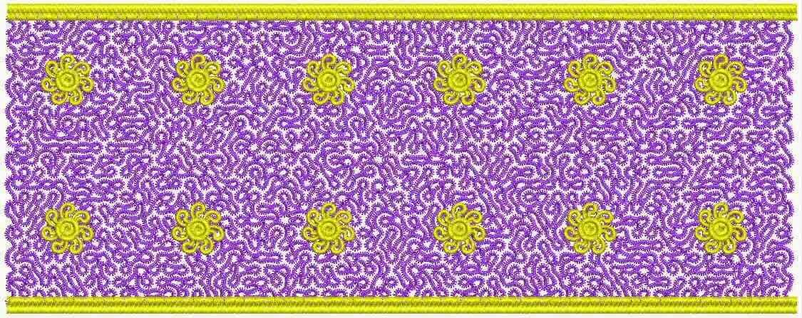 goue blom ontwerp Kant grens