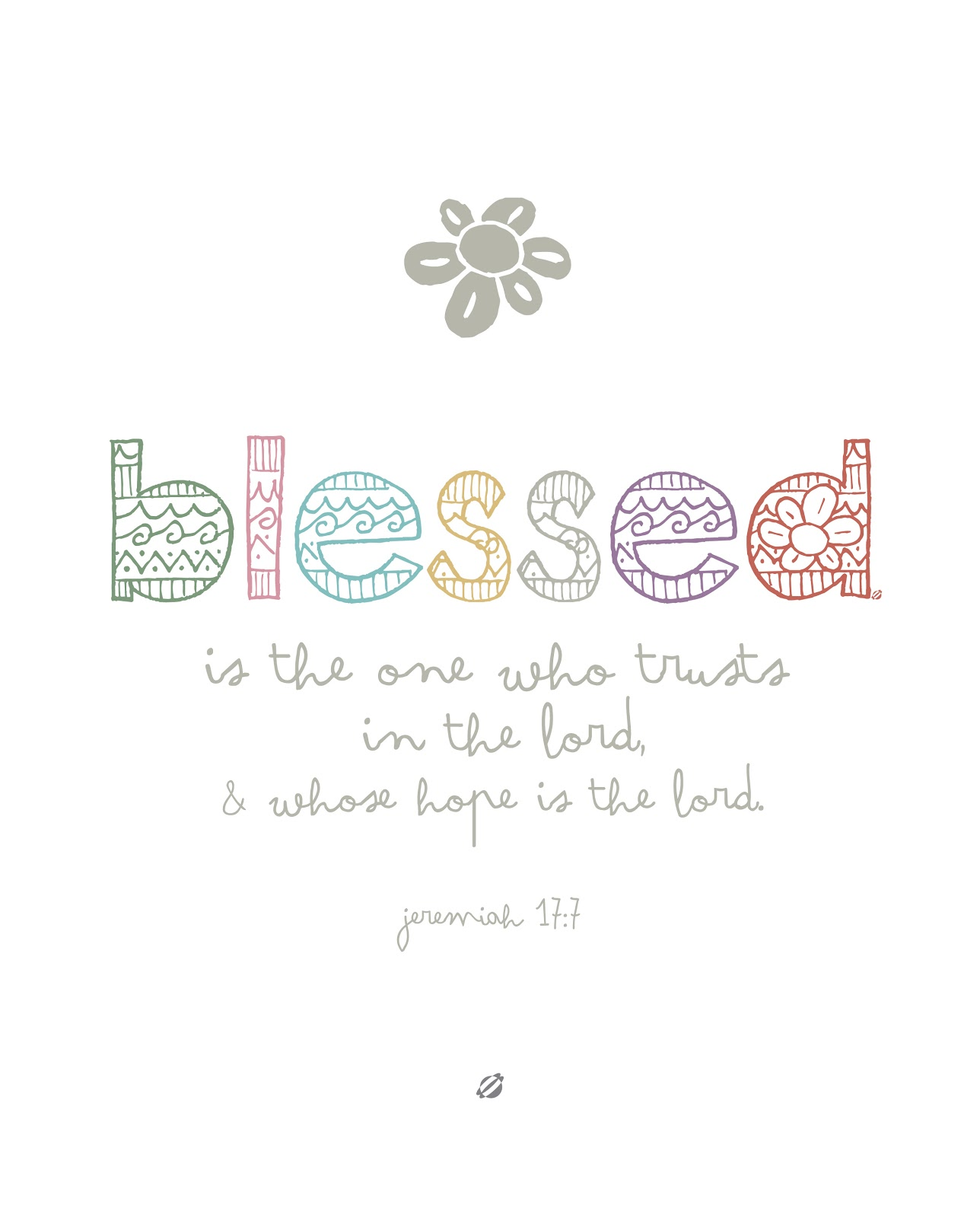 LostBumblebee ©2014 Blessed - Free Printable - For Personal Use Only.