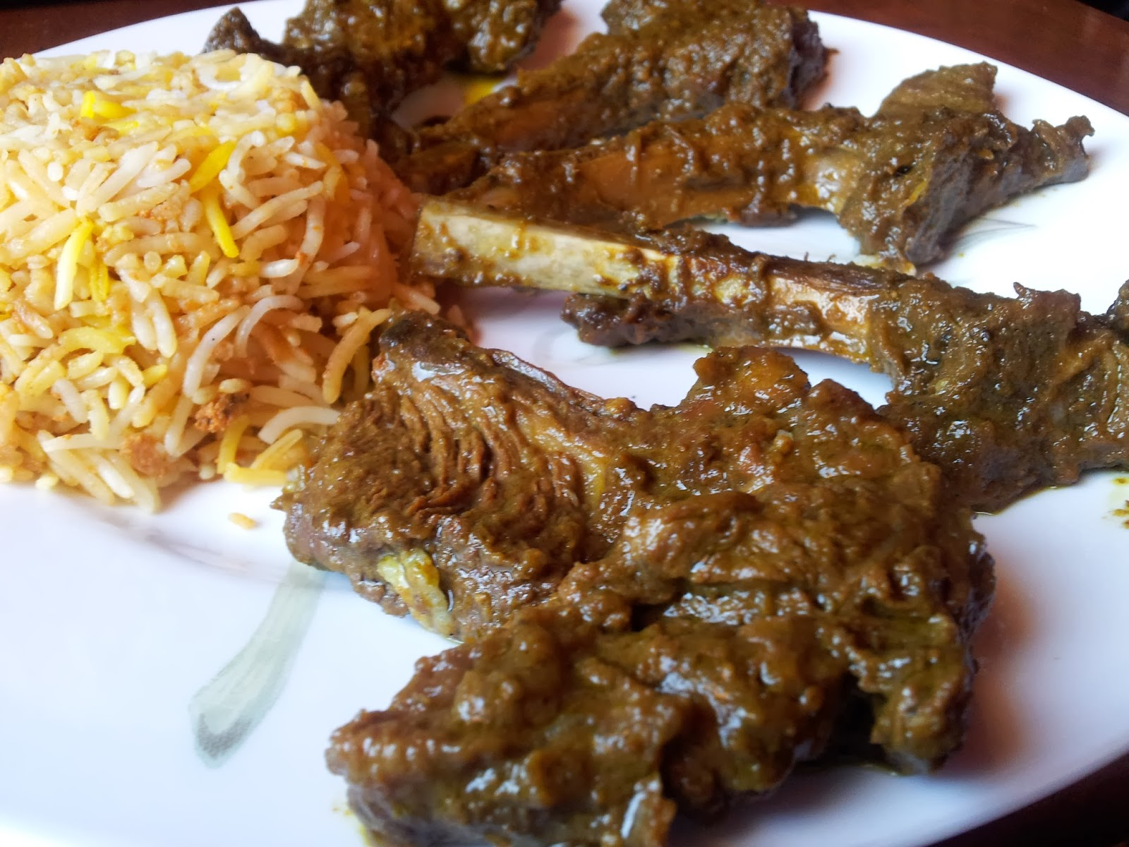 - The Food Blog: Lamb Chops braised in a puree of green Indian ...