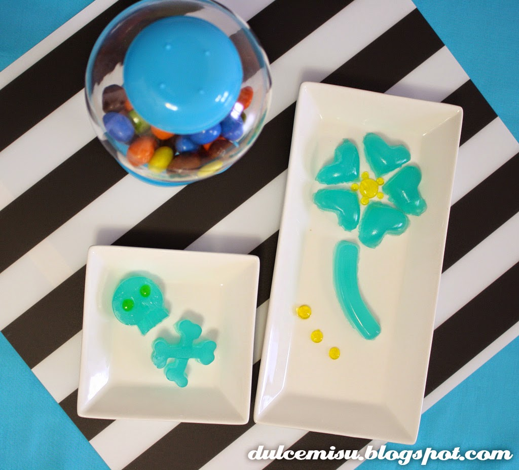 gelatina, blue tropic, esferificación, limón, lima, postre frío, dulcemisu, decoración,