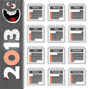Contoh Kalender 2013 - Grey (cdr File)