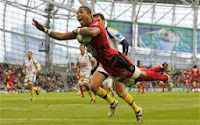Delon Armitage, Toulon, try, celebration, Heineken Cup, Final, Winners, Europe, Winners