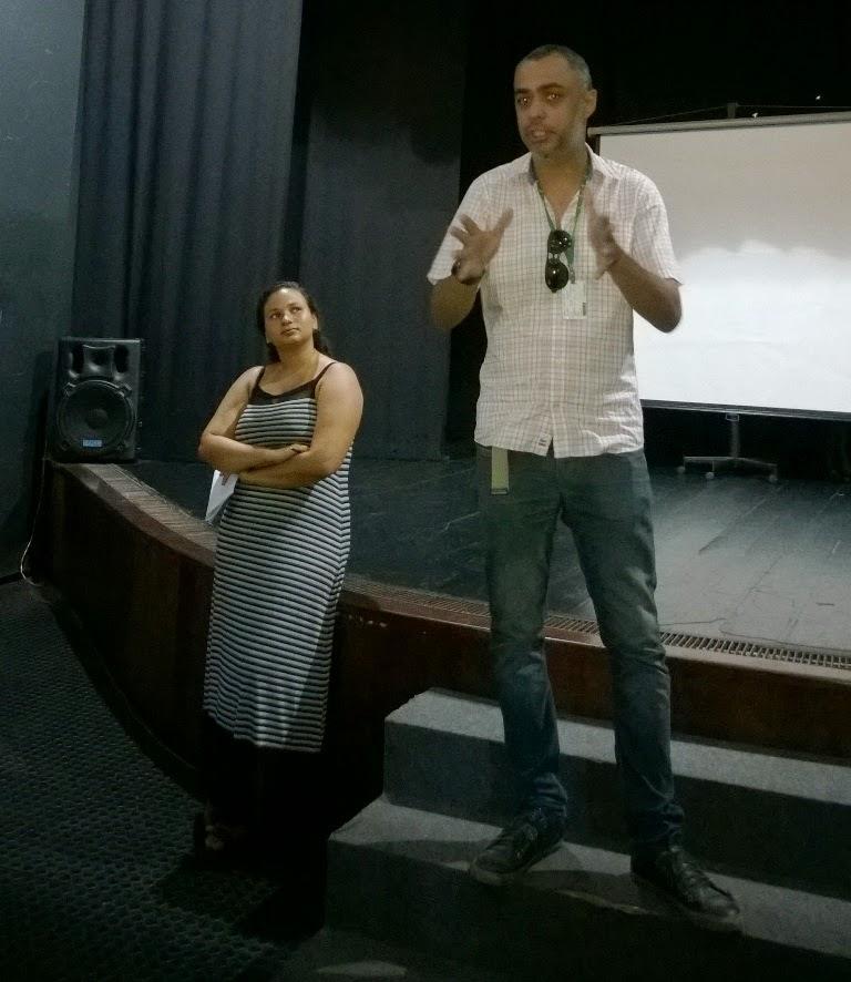 Marcos fez a apresentação cursos Pronatec na Casa de Cultura dia 22-12-14