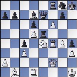 Posición de la partida de ajedrez Portisch - Ulvestad Olaf, después de 35. f6!!