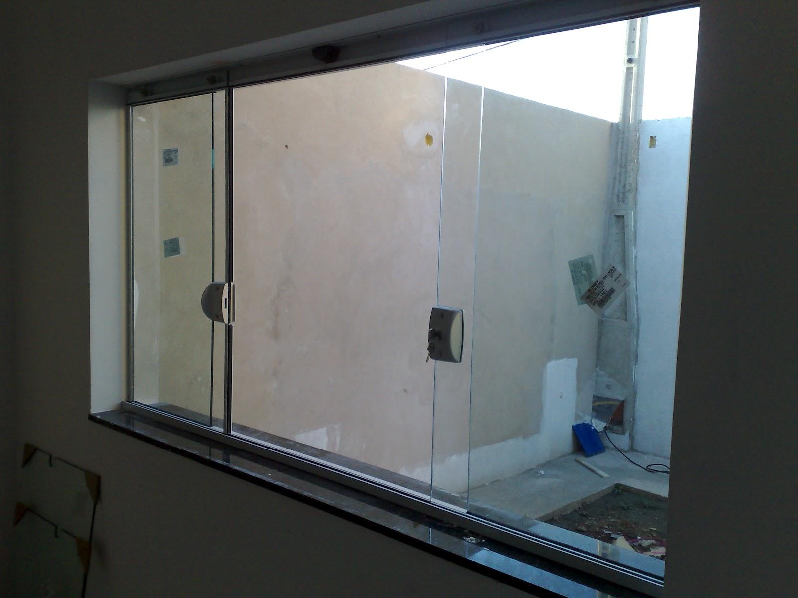 #38495C Passo a passo da construção da minha primeira casa: Vidros Blindex  186 Janelas De Vidro Na Sala