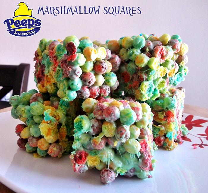 Peeps Marshmallow Squares