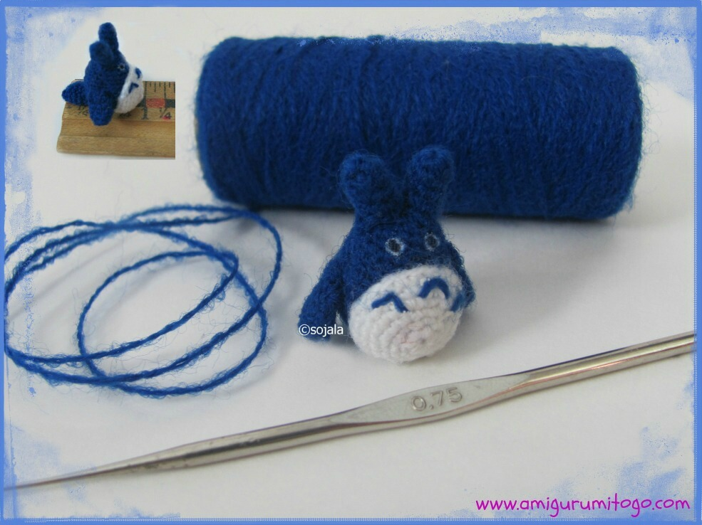 Miniature Thread Totoro Free Crochet Pattern ~ Amigurumi To Go