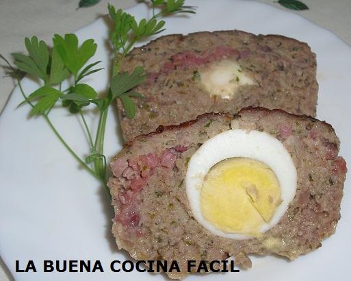 Rollo De Carne Relleno De Huevos Duros