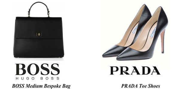 Queen Letizia's BOSS Medium Bespoke Bag And PRADA Toe Shoes
