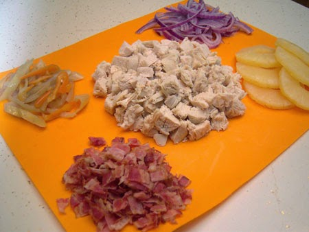 Spicy Hawaiian BBQ Bacon & Chicken Pizza Recipe ingredients