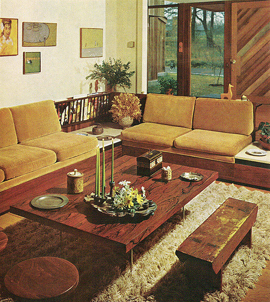 Vintage Interior Design Decoration 60s