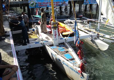 Kapal Layar Nusantara II Kunjungi Kotabaru
