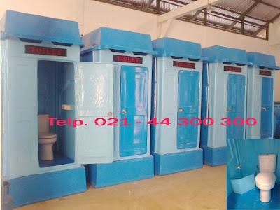 toilet portable, flexible toilet fiberglass, wc sementara, toilet proyek, septic tank biotech