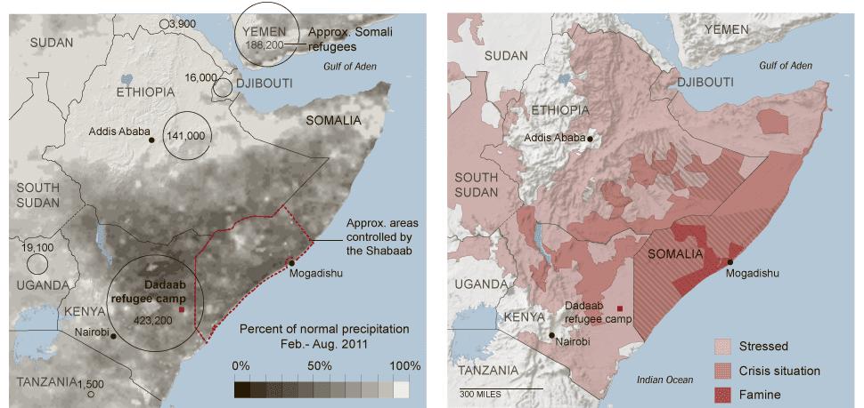 Réfugiés somaliens dans la Corne de l'Afrique