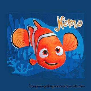 Nemo tiene una aleta feliz Dibujos de nemo para imprimir