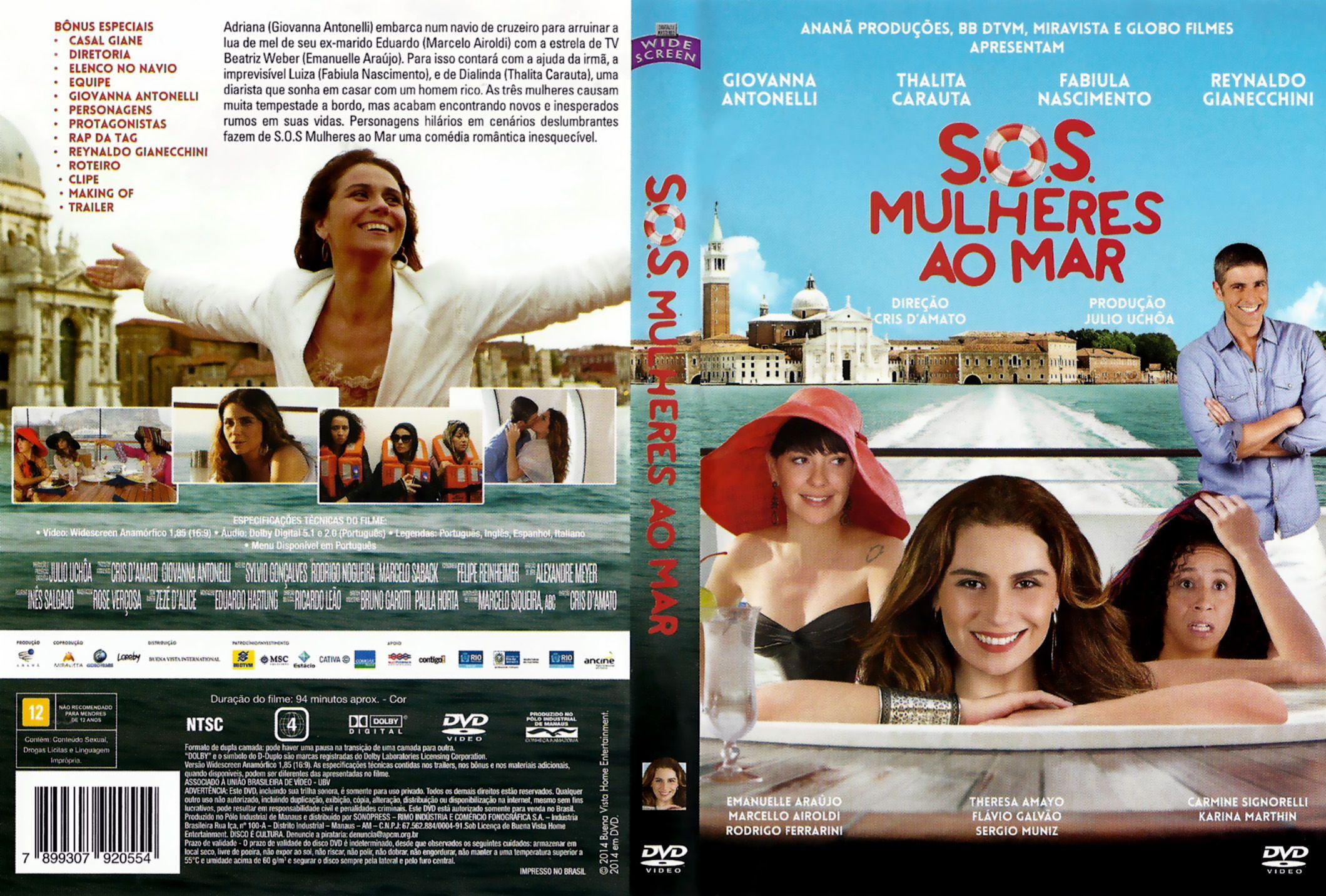 Capa DVD S.O.S Mulheres Ao Mar