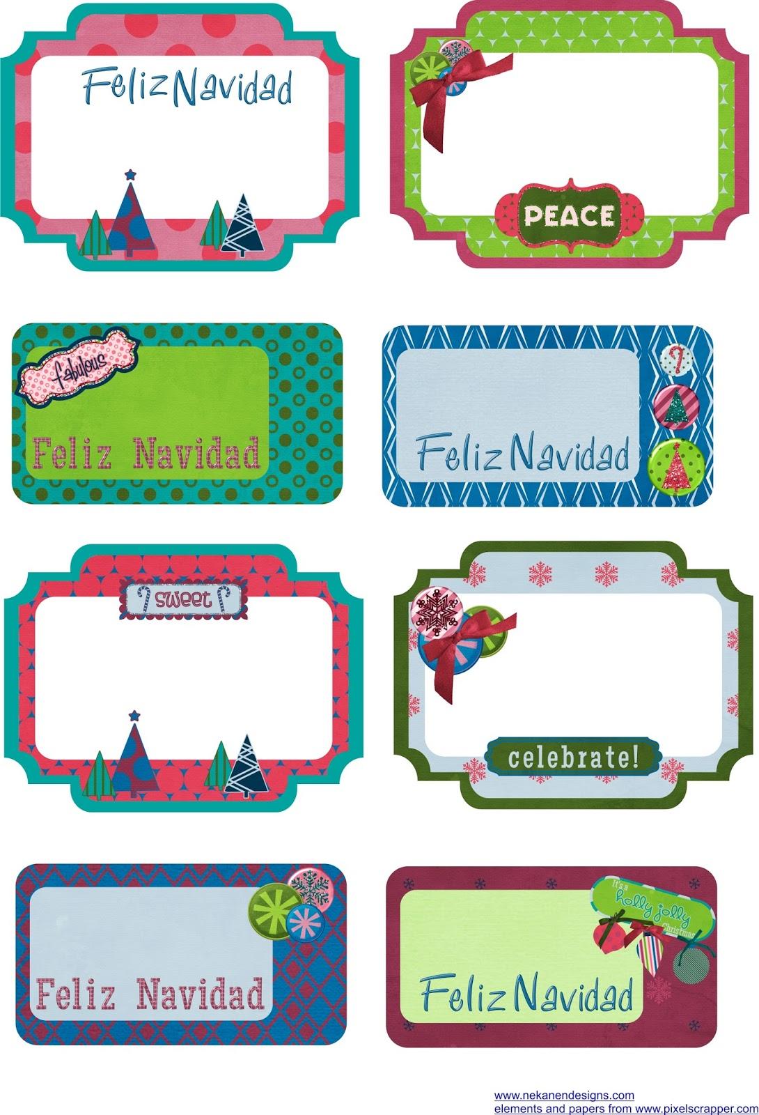 etiquetas navidad tags free freebie crhistmas printable