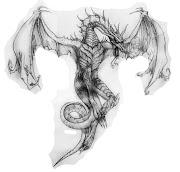 Dragão no peito. Meu amigo Léo havia me pedido a tempos um desenho de um .