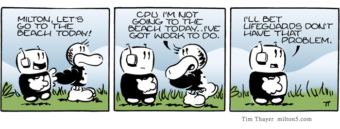 Milton, Let's go to the beach today!