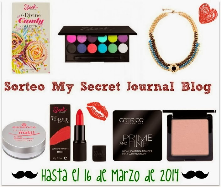 Sorteo my secret journal blog