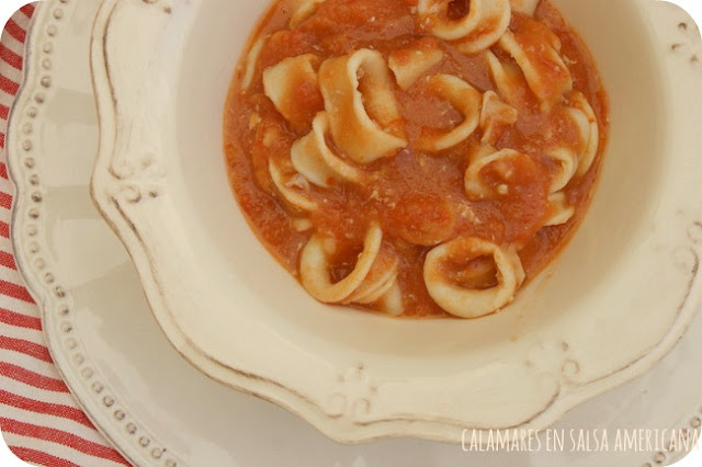 Calamares en salsa americana atrapada en mi cocina for Cocinar calamares pequenos