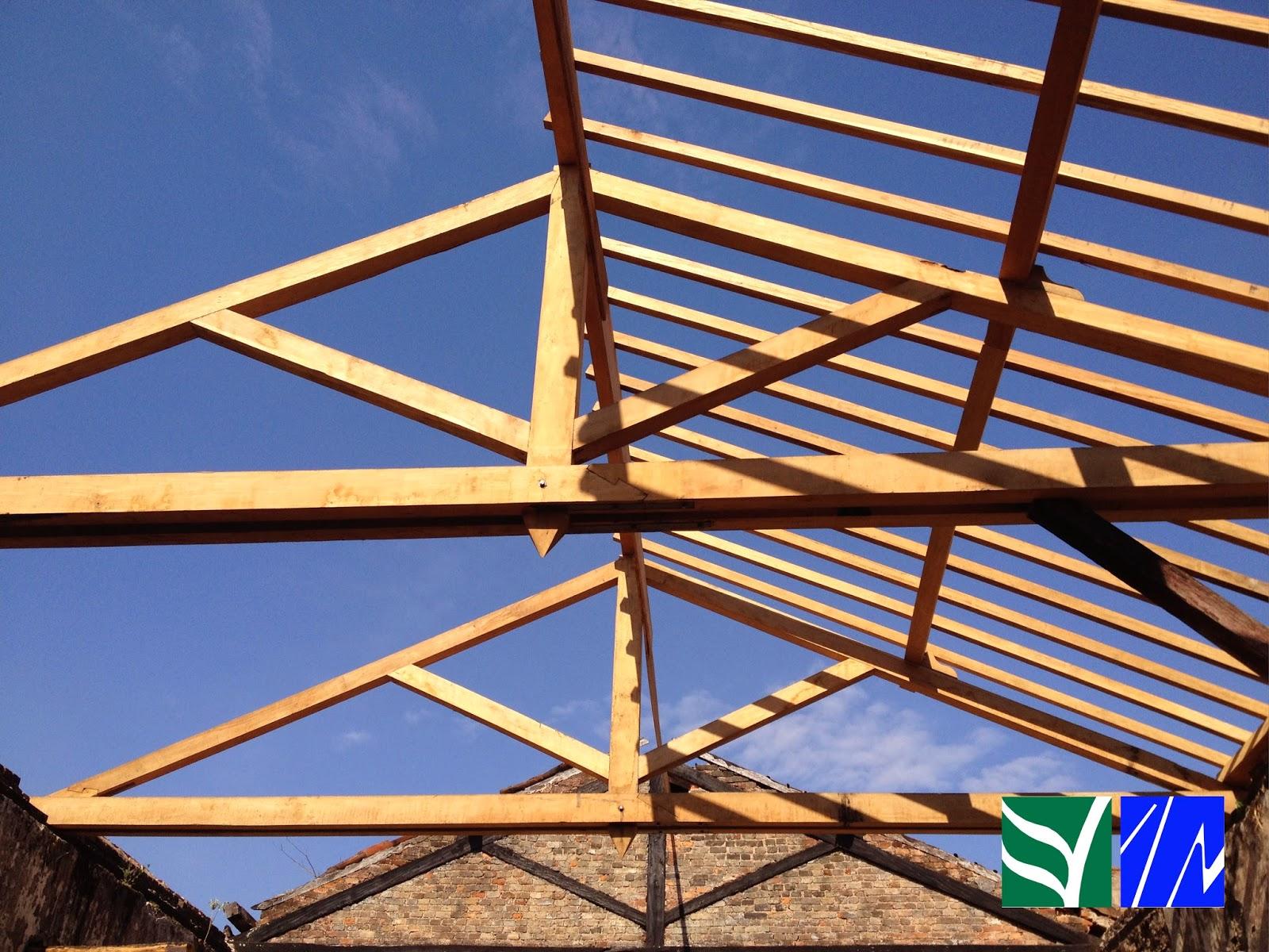 peças de madeira de composição do telhado tesouras de madeira  #C07D0B 1600x1200