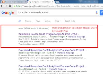"""Cara Judul postingan blog bisa muncul di search engine google """"Pencarian Google"""""""