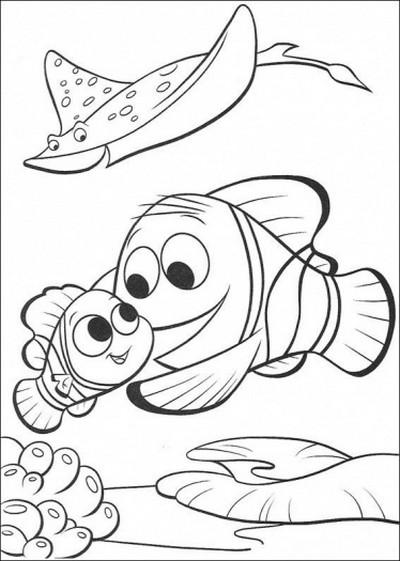 girotondo di bimbi disegni nemo da colorare