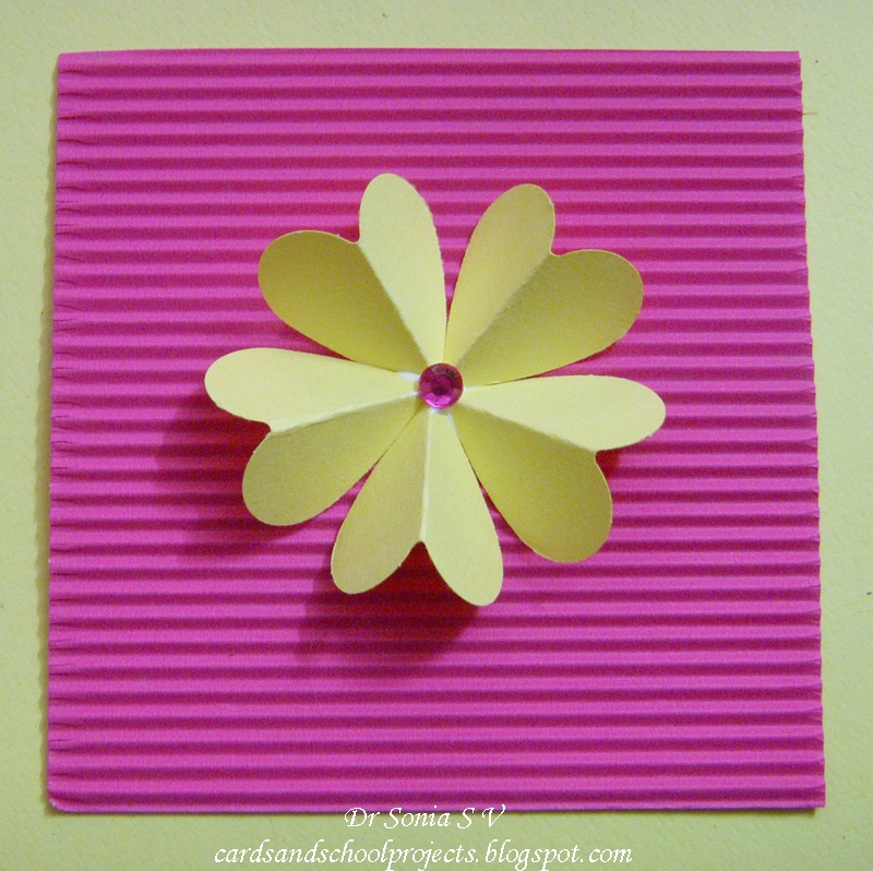 Cards crafts kids projects quick and easy heart punch flower tutorial cards crafts kids projects mightylinksfo Images