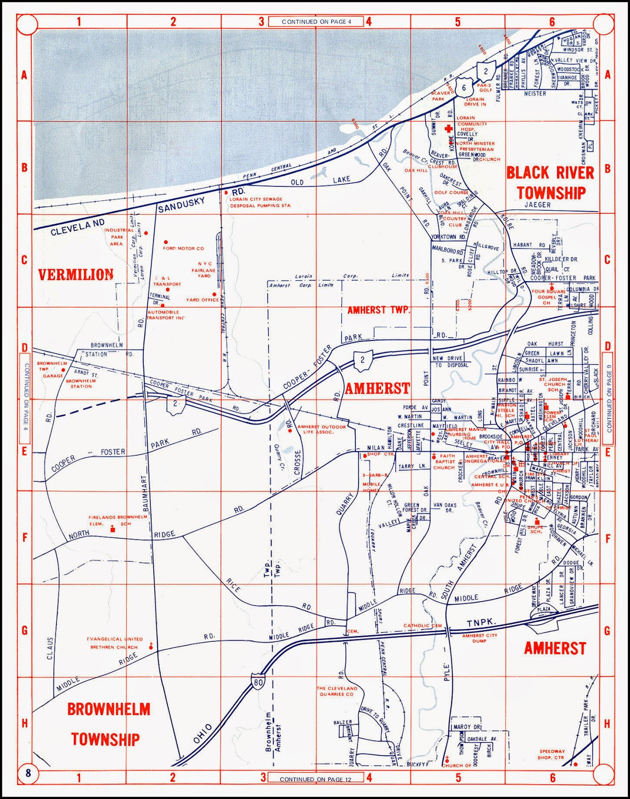 Bradys Lorain County Nostalgia Late 1960s Champion Map of W